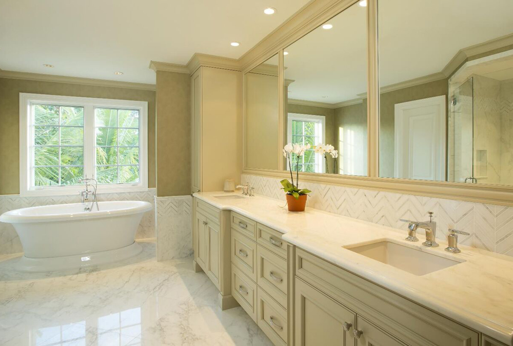 Inspiration for bathrooms maryland 39 s cabinet expert for White bathroom remodel pictures