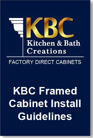 KBC Framed Cabinet Install Guide Downloadable PDF
