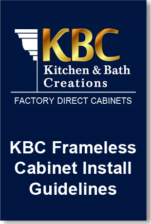 KBC Frameless Cabinet Install Guide Downloadable PDF
