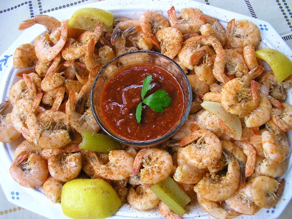 Chesapeake Bay Region Steamed Shrimp - yummy!