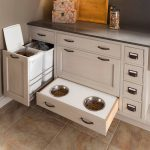 Pet Friendly Kitchen Design - Built-in Food and Water Bowls