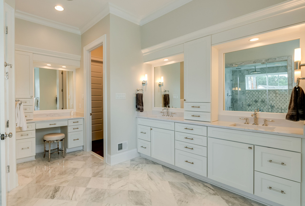 Master Bath With Dressing Table
